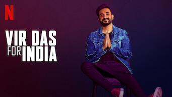 Vir Das: For India Poster